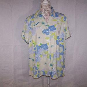 Worthington Shirt Stretch Short Sleeves